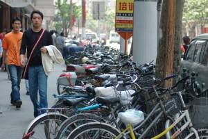 Самый популярный вид транспорта - велосипед