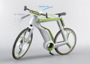 Электровелосипед очищающий воздух