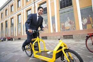 Электровелосипед для перевозки грузов от фирмы Larry vs Harry