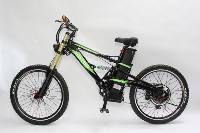 2015 Cool e-Motorcycle Style Super Mountain E-bike! 48V 1500W E-Bike with 48V 18Ah Li-ion Bottom Discharge Battery and Zoom Triple Crown Fork электровелосипед