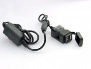 USB модуль на руль 9-90В 1А 2.1А два гнезда